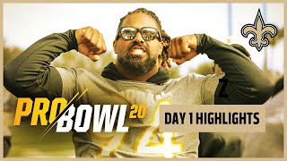 2020 NFL Pro Bowl Day 1 Highlights | New Orleans Saints