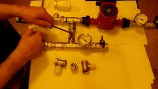 видео Двухходовой и трехходовой клапан для теплого пола: схема подключения