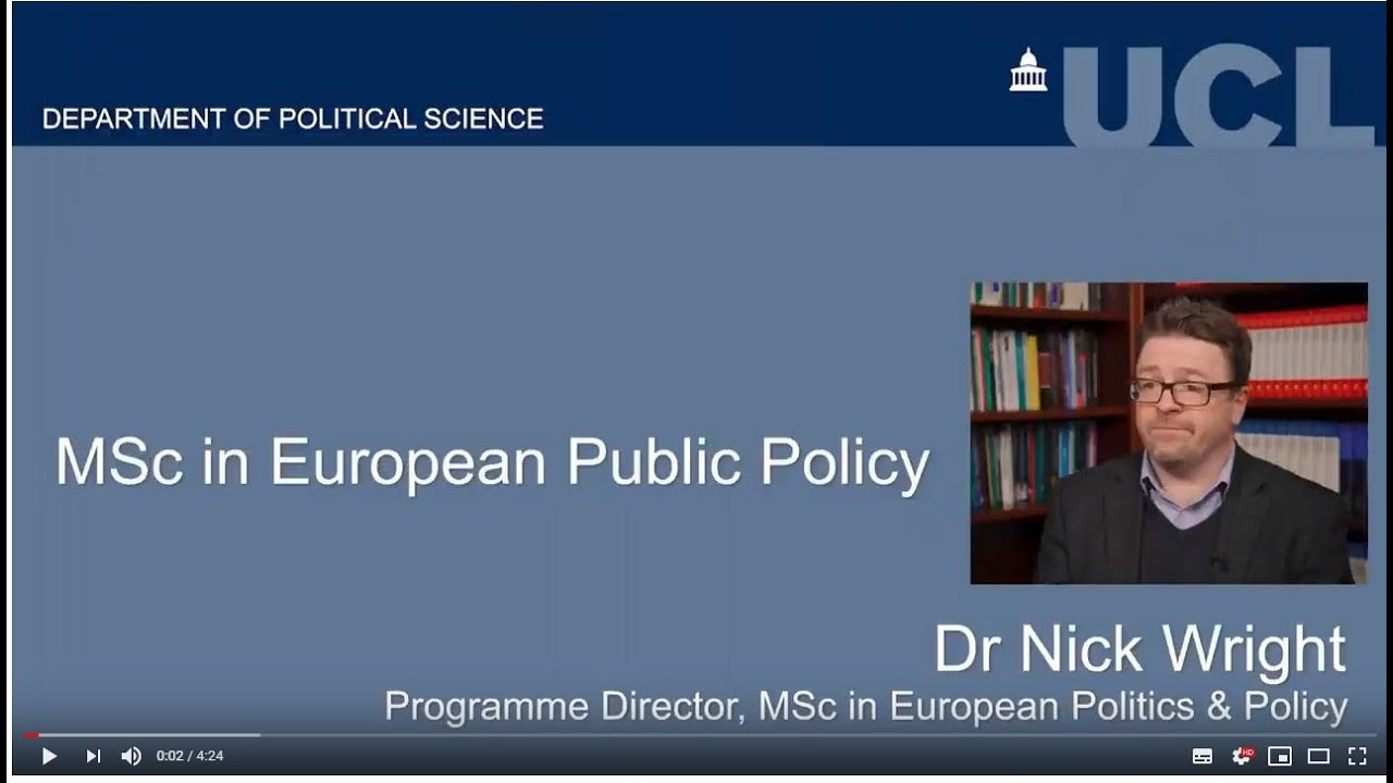 MSc European Politics and Policy