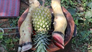 How to cook soup beef leg with pineapple - Beautiful Girl Cooking - Village Food Factory