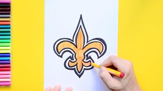How to draw and color the New Orleans Saints Logo - NFL Team Series
