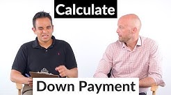 How to calculate down payment on a house