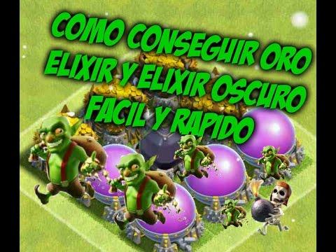 Oro Elixir y Elixir Oscuro) Facil y Rapido - Clash Of Clans Español