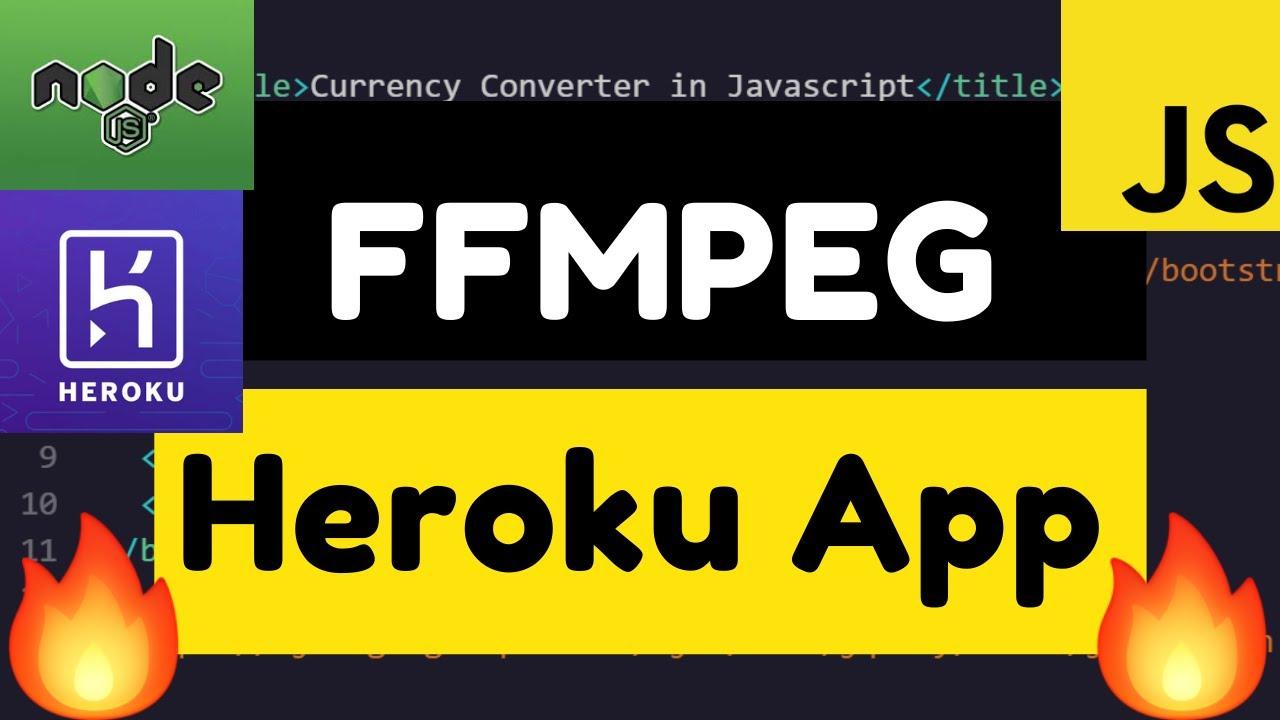 Node.js Express Mp4 to Mp3 Converter FFMPEG App Hosted on Heroku