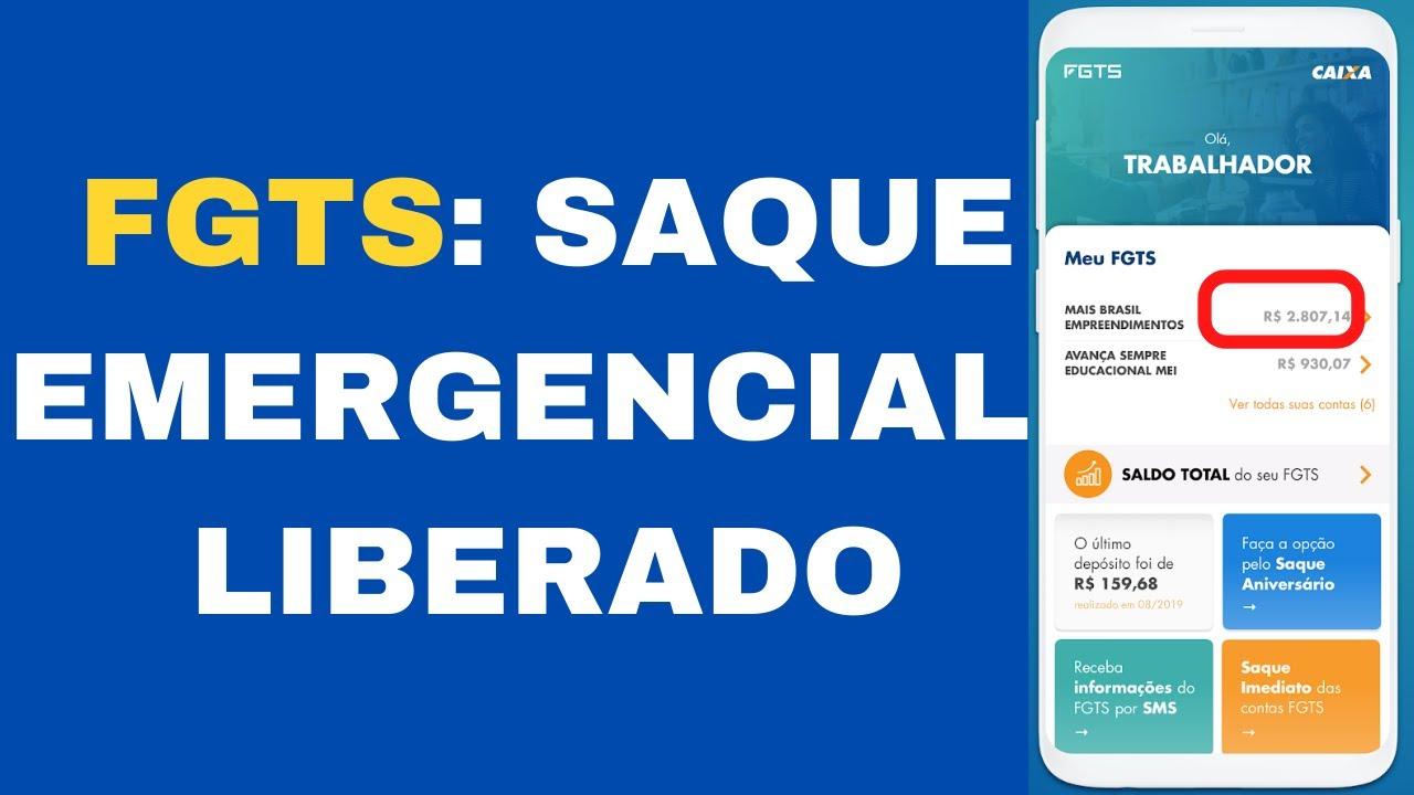 FGTS: SAQUE EMERGENCIAL | LIBERADO AUTORIZAÇÃO TEMPORÁRIA PARA ...