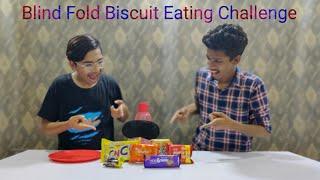 Blind Fold Biscuit Eating Challenge Food Challenge Food Bar FRIEND VS FRIEND EP 4