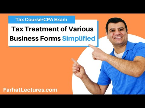 Tax Treatment of Various Business Forms | Corporate Income Tax | CPA REG | Ch 17 P 1