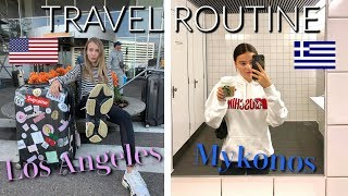 DE HEENREIS NAAR LOS ANGELES EN MYKONOS! | ONZE TRAVEL ROUTINE!