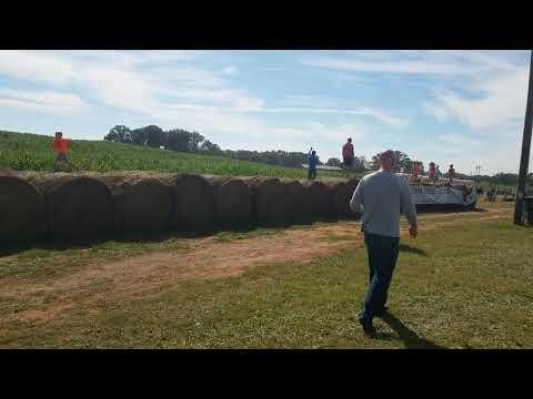 Denver Downs Farm hay bale run and barrel race 10.1.2017