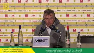 VIDEO: LIVE I Conférence de Presse d'après match : FCN-ASSE