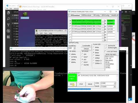 11. ESP8266 NONOS SDK GPIO LED Hello World
