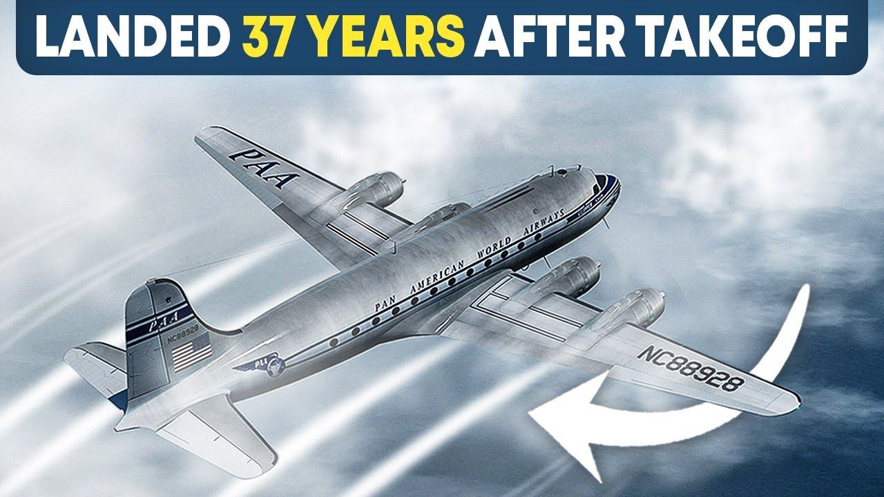Did this Plane 914 disappear in 1955 and land 37 years later without Incident?