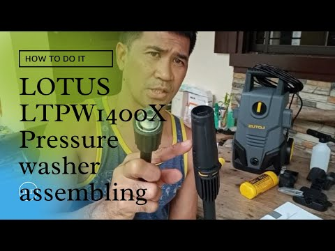 HOW TO ASSEMBLE AND TEST LOTUS LTPW 1400X PRESSURE WASHER VIDEO