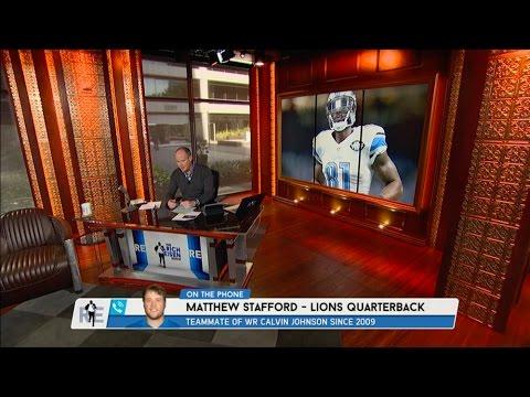 Lions QB Matthew Stafford Talks Calvin Johnson Retirement & More - 2/24/16