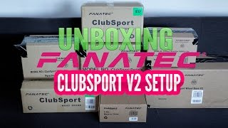 Fanatec CLUBSPORT V2 full setup unboxing + first look