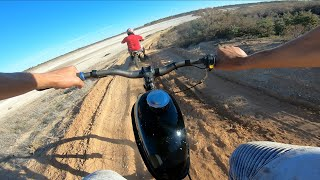 Riding a Motorised Bike on Motorbike Tracks