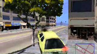 Driver (PS1) Driving Traffic Cars (Wall Collisions Enabled)