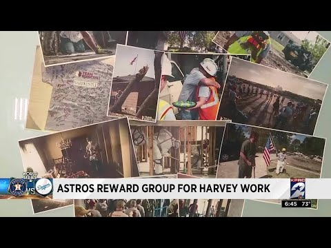 Astros reward group for Harvey work