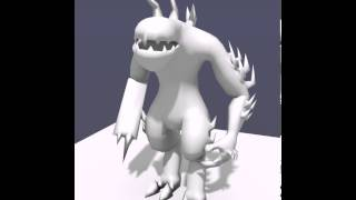 Monster Character Rig and Animation Test