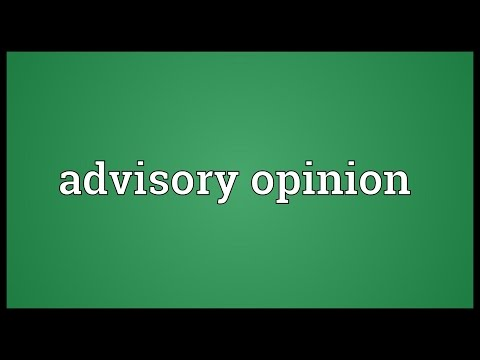 Advisory opinion Meaning