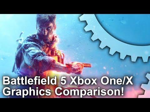 [4K] Battlefield 5: Xbox One vs X Graphics Comparison + Frame-Rate Test!