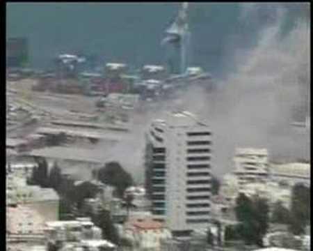 Katyusha rocket attack in Haifa (Israel)