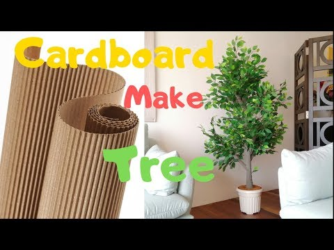 How to make Indoor Plant Tree | DIY Artificial tree with cardboard