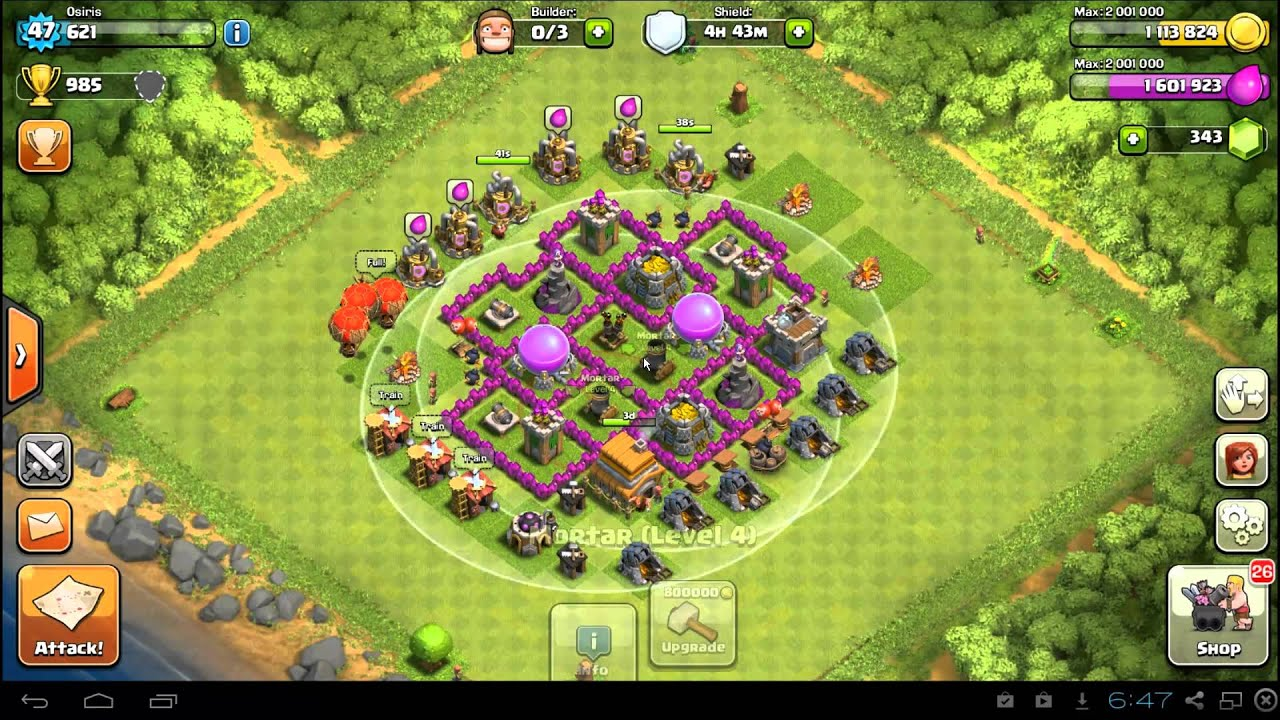Base farming layout th6 by spikerush base farming layout th6 by - Best Clash Of Clans Town Hall 6 Farming Defense Base Layout Th6 Youtube
