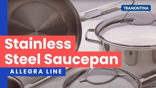 Tramontina - Prima Stainless Steel Covered Sauce Pan video