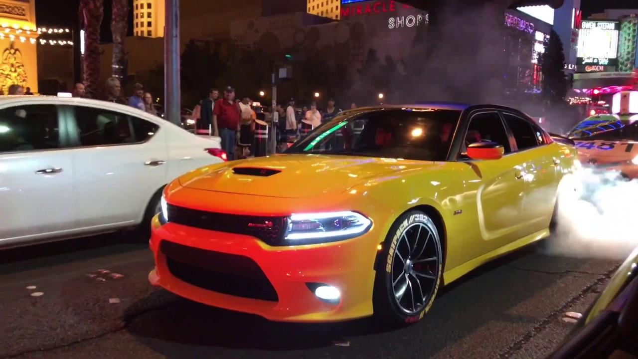 dodge charger scat pack las vegas Dodge Charger R/T Scat Pack Crazy Burnout On The Las Vegas Strip