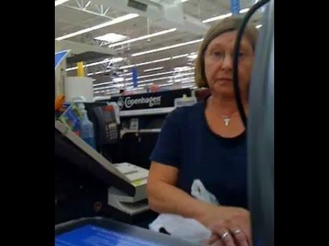 Rude Customer Harasses Wal Mart Cashier Youtube