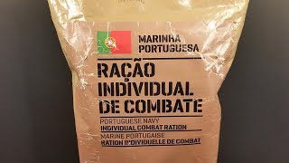 2016 Portuguese Navy 24 Hour Individual Combat Ration MRE Review Meal Ready to Eat Taste Test
