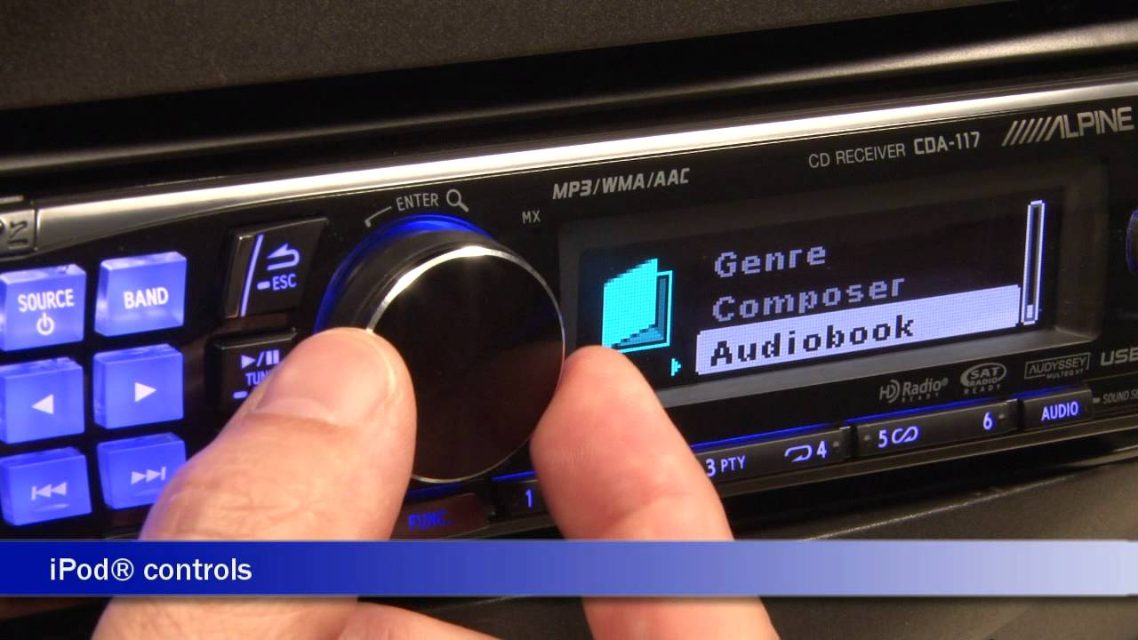Alpine Cda-117 Cd Receiver Display And Controls Demo