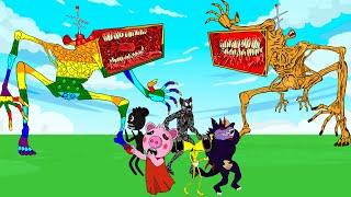 Mega Siren Head Pop It Vs Mega Siren Head, Cartoon Dog    Roblox Piggy Animation   GV Studio