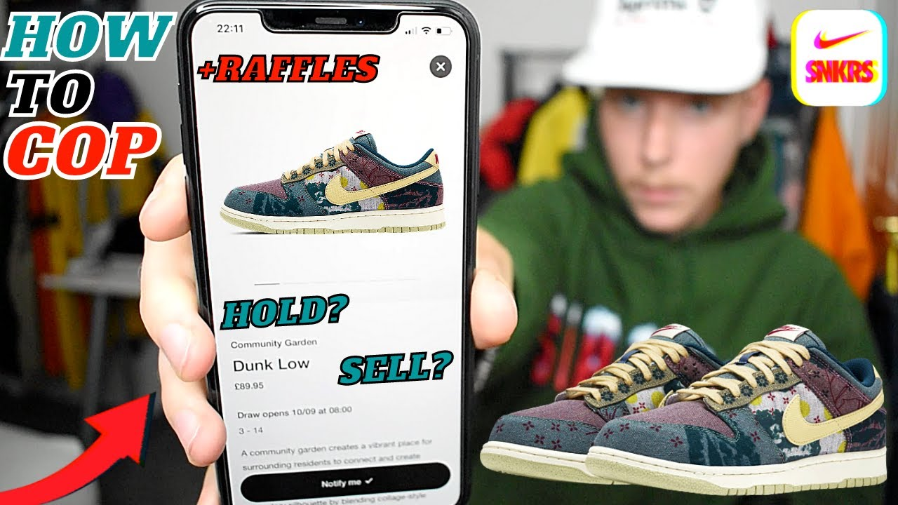 How To Cop Nike Dunk Low Community Garden Lemon Wash Snkrs Raffles Hold Or Sell 2020 Release Youtube