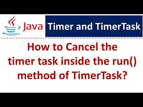 How to Cancel the timer task inside the run() method of TimerTask