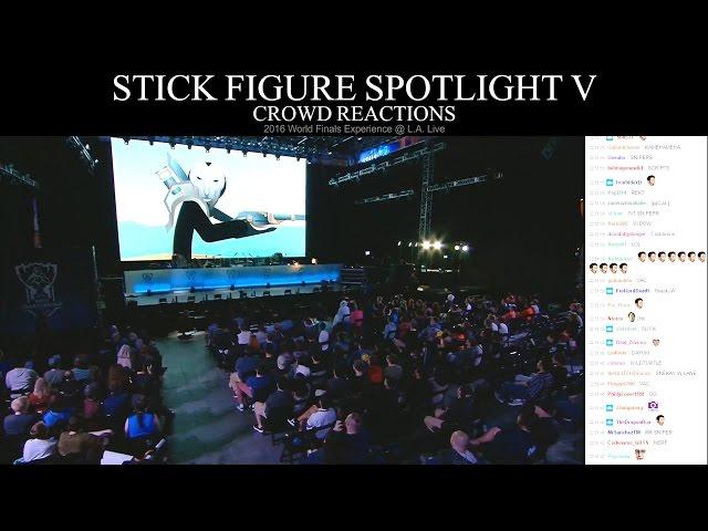 Crowd Reactions - Stick Figure Spotlight V (2016 Worlds LA Live)
