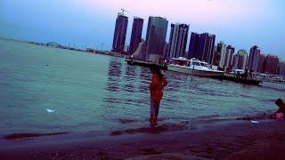 MARINA Beach Bahrain - Beautiful Scenes in 4K HDR 60FPS , Cinematic Color Grade