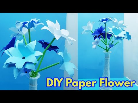 handmade paper flowers | how to make paper flowers | quick easy & simple paper flowers | paper craft