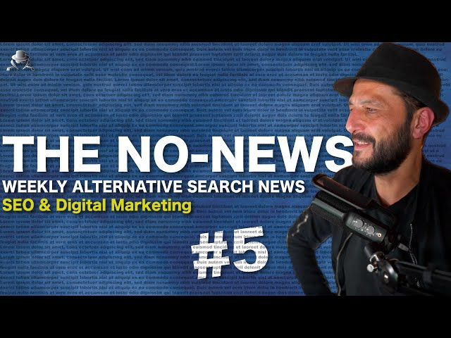 NO NEWS IS GOOD NEWS! The NO-NEWS of The Alternative Search News - 2020, Week 28