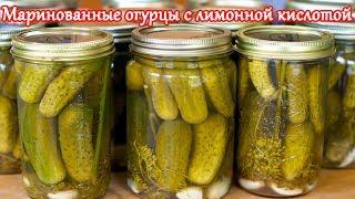 Рецепт маринованных огурцов с лимонной кислотой