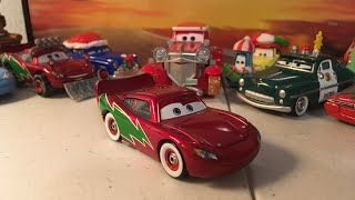 Disney cars Holiday Hotshot McQueen diecast review