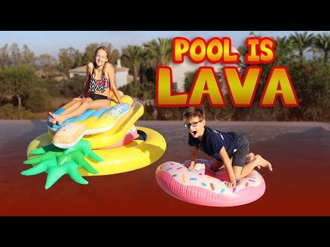 Thumbnail: POOL IS LAVA CHALLENGE!!!