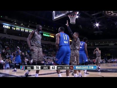 Youssou Ndoye posts 11 points & 14 rebounds vs. the Blue, 2/20/2016