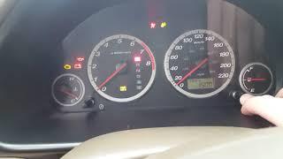 Honda CR-V 2002-2006 Сброс сервисного интервала замены масла