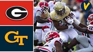 #4 Georgia vs Georgia Tech Highlights | Week 14 | College Football 2019