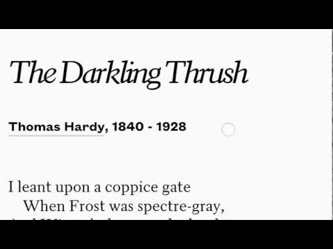 Explanation of The Darkling Thrush by Thomas Hardy Class 12 English Elective | Detailed summary |