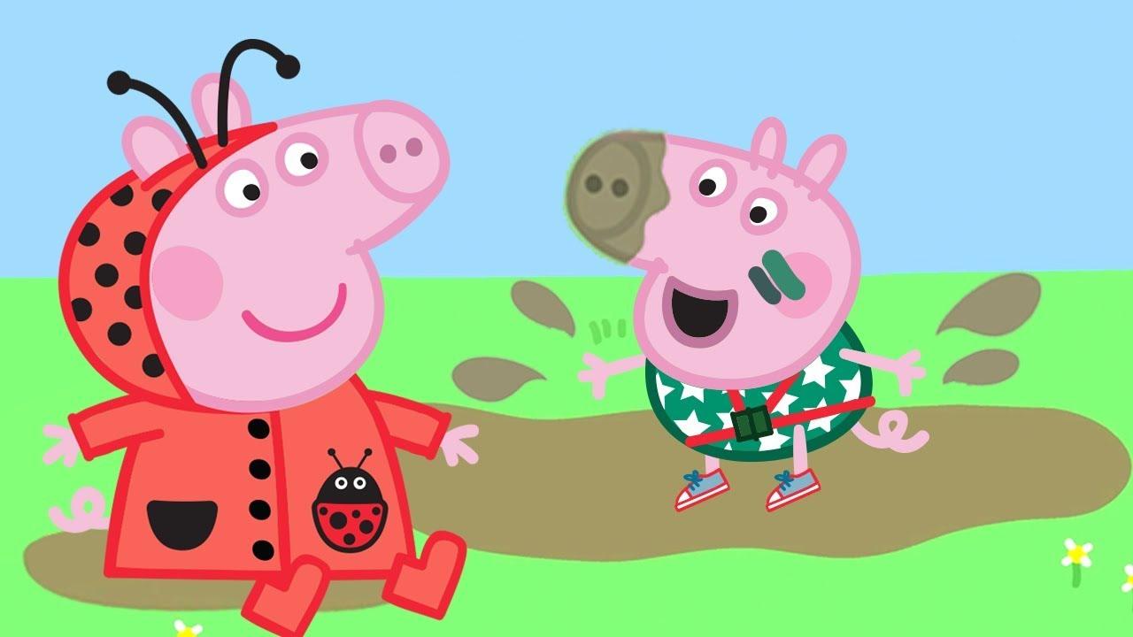 Peppa Pig Portugues Brasil Pocas De Lama Hd Desenhos