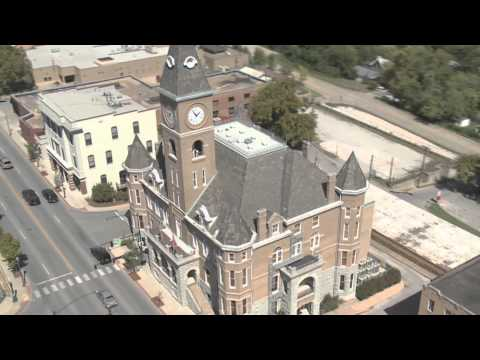 Aerial shots of Old Washington County Courthouse