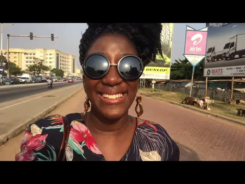 GHANA VLOG #16 || GOING TO ART CENTER || AIRPORT CITY || CHEZ CLARISSE || ADEDE